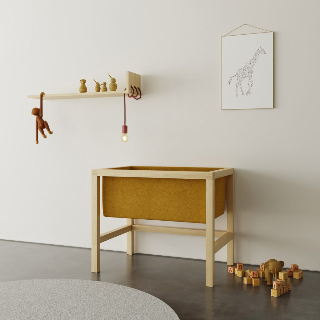 BABY CRADLE NINA is made from durable and solid wood