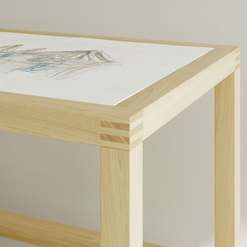 DRAWING TABLE LUCA is made from durable and solid wood